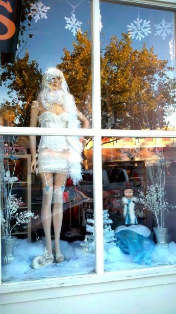 Naughty or Nice winter display