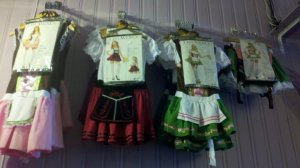 A variety of Beer Maid Costumes