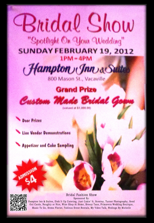 Flyer for upcoming bridal show